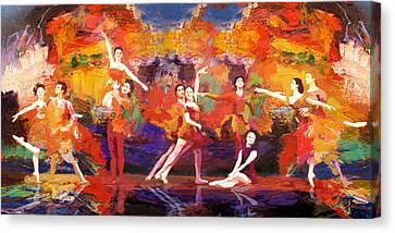 Flamenco Dancer 022 Canvas Print by Catf