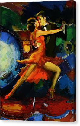 Flamenco Dancer 029 Canvas Print by Catf