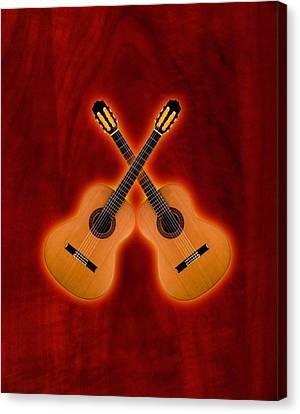 Flamenco  Guitar  Canvas Print by Doron Mafdoos