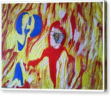 Flames Canvas Print by Trevor R Plummer
