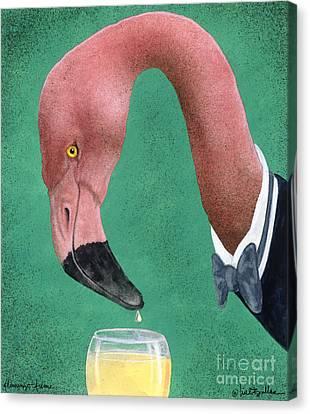 Flamingo Fume... Canvas Print by Will Bullas