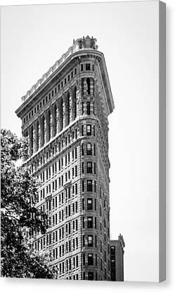 Flat Iron Canvas Print by Alexander Mendoza