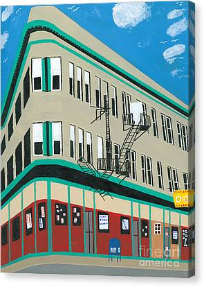 Flat Iron Building Canvas Print by Dennis ONeil