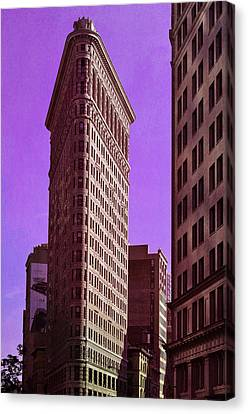 Flat Iron Nyc Canvas Print by Laura Fasulo