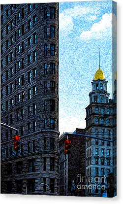 Flat Iron Nyc Canvas Print by Sabine Jacobs