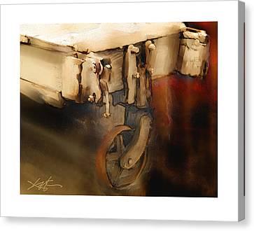 Flatbed Trolley Canvas Print by Bob Salo