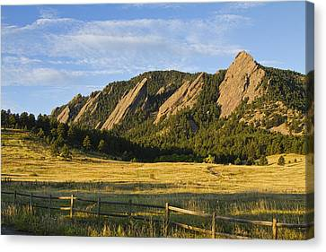 Flatirons From Chautauqua Park Canvas Print by James BO  Insogna
