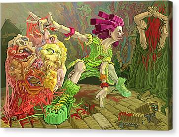 Flesh Ball Why Is Everything Alive Canvas Print by Augustinas Raginskis