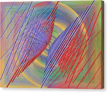 Flight Of The Albatross Canvas Print by Tim Allen