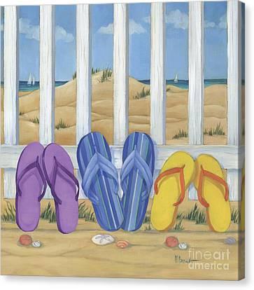 Flip Flop Beach II Canvas Print by Paul Brent