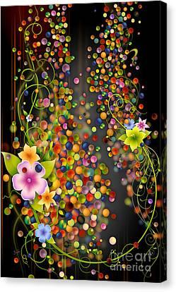 Floating Fragrances - Black Version Canvas Print by Bedros Awak