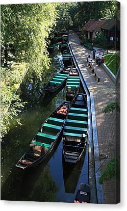 Floating Grardens Of Amiens Canvas Print by Aidan Moran