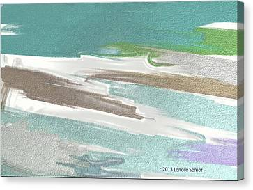 Floating On Ice Canvas Print by Lenore Senior