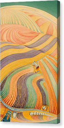 Floating Over Fields IIi Canvas Print by Scott Kirby