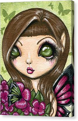 Floewer Fairy Fleur Canvas Print by Elaina  Wagner