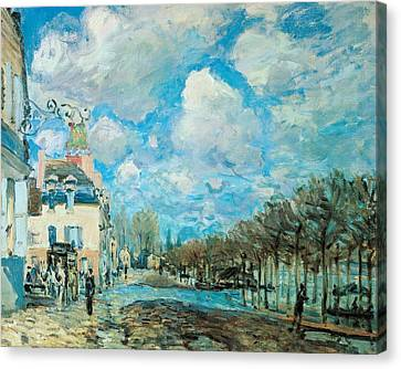 Flood At Port-marly Canvas Print by Alfred Sisley