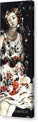 Flora Canvas Print by Carrie Joy Byrnes