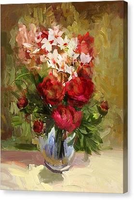 Floral 9 Canvas Print by Mahnoor Shah