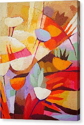 Floral Abstraction Canvas Print by Lutz Baar