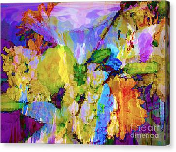 Floral Dreamscape Canvas Print by Ann Johndro-Collins