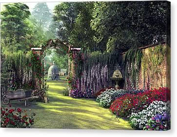 Floral Garden Canvas Print by Dominic Davison