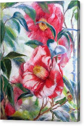 Floral Print Canvas Print by Nancy Stutes