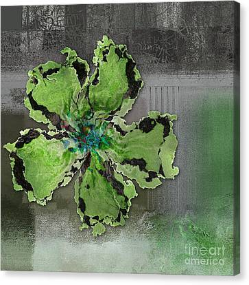Floralart - 0404 Green Canvas Print by Variance Collections