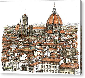 Florence In Colour Canvas Print by Adendorff Design