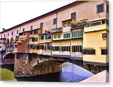 Florence Italy Ponte Vecchio Canvas Print by Jon Berghoff