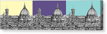 Florence's Duomo In Pastels Canvas Print by Adendorff Design