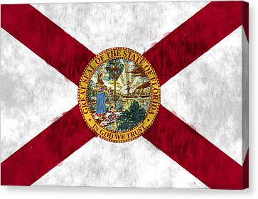 Florida Flag Canvas Print by World Art Prints And Designs