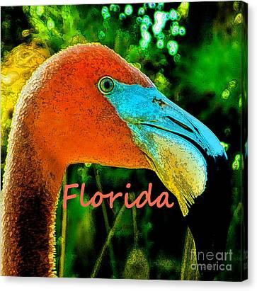 Florida Flamingo Canvas Print by Brigitte Emme