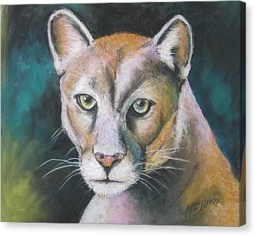 Florida Panther Canvas Print by Melinda Saminski