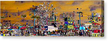 Florida State Fair Panorama Canvas Print by David Lee Thompson