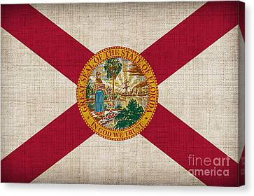 Florida State Flag Canvas Print by Pixel Chimp
