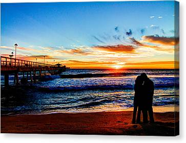 Florida Sunrise Brings A New Year Canvas Print by Andres Leon