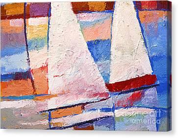 Flow Impasto Canvas Print by Lutz Baar