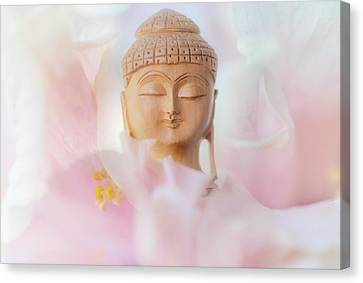 Flower Buddha 3 Canvas Print by Jenny Rainbow
