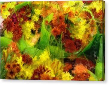 Flower Carnival Canvas Print by Ayse Deniz