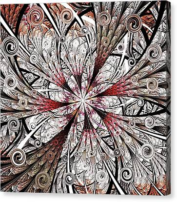 Flower Carving Canvas Print by Anastasiya Malakhova