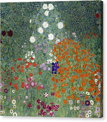 Flower Garden Canvas Print by Gustav Klimt