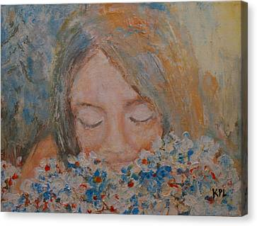 Flower Girl Canvas Print by Kathy Peltomaa Lewis
