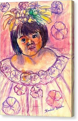 Flower Girl Canvas Print by Kendall Kessler