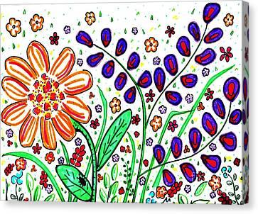 Flower Joy Canvas Print by Sarah Loft