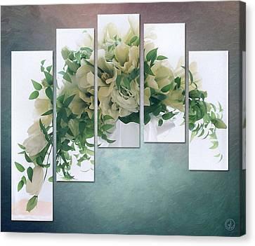 Flower Panels Canvas Print by Gun Legler
