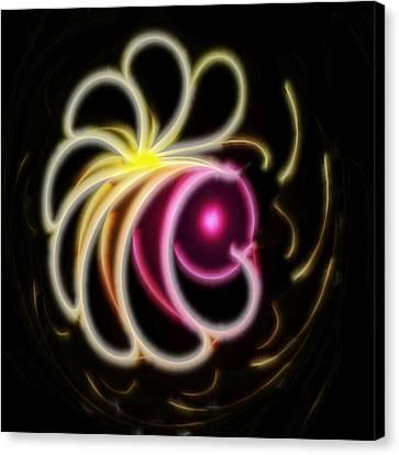 Flower Petals - A Fractal Design Canvas Print by Gina Lee Manley