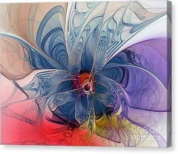 Flower Power-fractal Art Canvas Print by Karin Kuhlmann