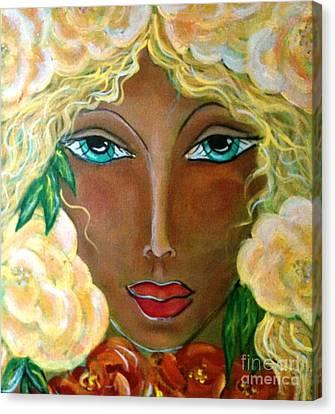 Flower Ritual Canvas Print by Maya Telford