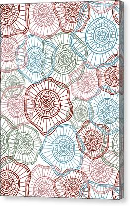 Flower Squiggle Canvas Print by Susan Claire