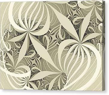 Flower Swirl Canvas Print by Anastasiya Malakhova